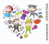 children theatre patterns.... | Shutterstock .eps vector #1031027626