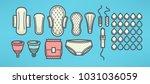 women menstrual hygiene vector... | Shutterstock .eps vector #1031036059