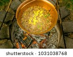 a traditional hungarian dish is ... | Shutterstock . vector #1031038768