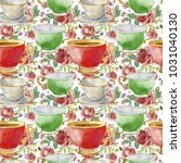 seamless pattern with... | Shutterstock . vector #1031040130