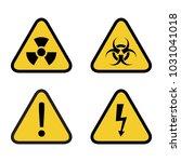 caution danger sign. hazard...   Shutterstock .eps vector #1031041018