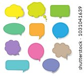 Colorful Speech Bubble Set...