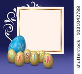 happy easter template with big...