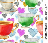 seamless pattern with... | Shutterstock . vector #1031043574