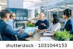 senior executive explains...   Shutterstock . vector #1031044153