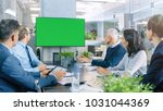 diverse group of successful... | Shutterstock . vector #1031044369