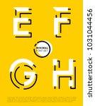 vector alphabet with minimal... | Shutterstock .eps vector #1031044456