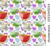 seamless pattern with... | Shutterstock . vector #1031045014