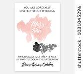 wedding invitation card ... | Shutterstock .eps vector #1031045296