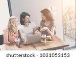 girl friend in feeling happy... | Shutterstock . vector #1031053153