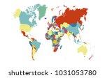 world map vector. | Shutterstock .eps vector #1031053780