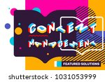 content management concept on... | Shutterstock .eps vector #1031053999