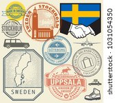travel stamps or symbols set... | Shutterstock .eps vector #1031054350