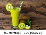 kiwi smoothies juice beverage... | Shutterstock . vector #1031060218