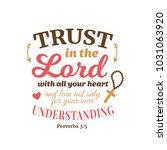 christian proverb lettering... | Shutterstock .eps vector #1031063920