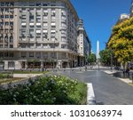 obelisk and lavalle square in...   Shutterstock . vector #1031063974