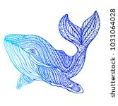 surreal decorative whale ... | Shutterstock .eps vector #1031064028