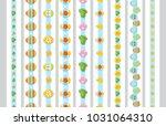 vector set of vertical seamless ... | Shutterstock .eps vector #1031064310