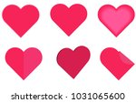 pack of different heart designs | Shutterstock .eps vector #1031065600