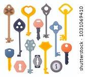 set of vintage and modern door  ...   Shutterstock .eps vector #1031069410