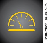 yellow speed meter icon on... | Shutterstock .eps vector #1031076676