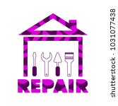 professional house remodeling.... | Shutterstock .eps vector #1031077438