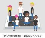 social network concept. a... | Shutterstock .eps vector #1031077783