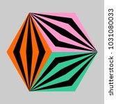 isometric cube  vector...   Shutterstock .eps vector #1031080033