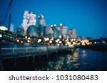 twilight blurred light office... | Shutterstock . vector #1031080483