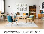 stylish vintage furniture in a... | Shutterstock . vector #1031082514