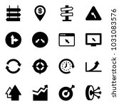 solid vector icon set   sign... | Shutterstock .eps vector #1031083576
