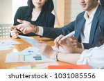 asian business people meeting... | Shutterstock . vector #1031085556