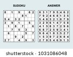 vectot sudoku with answer 122....   Shutterstock .eps vector #1031086048