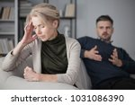 depressed and tired wife with a ...   Shutterstock . vector #1031086390