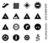 solid vector icon set  ... | Shutterstock .eps vector #1031089459