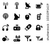 solid vector icon set   antenna ... | Shutterstock .eps vector #1031091619