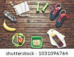 the concept  a healthy... | Shutterstock . vector #1031096764