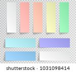 set of paper stickers with... | Shutterstock .eps vector #1031098414