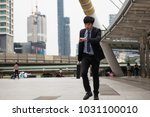 Hurry Asian Businessman Running Looking - Fine Art prints