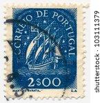 portugal   circa 1949  a stamp...   Shutterstock . vector #103111379