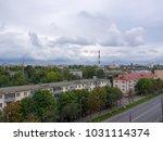 the city outdoor factory... | Shutterstock . vector #1031114374