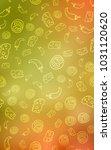 light red  yellow vertical...   Shutterstock . vector #1031120620