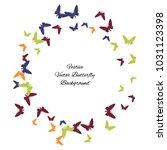 festive butterfly confetti... | Shutterstock .eps vector #1031123398