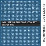 industrial icon set | Shutterstock .eps vector #1031123848