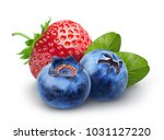 isolated berries. two sweet... | Shutterstock . vector #1031127220