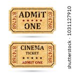 admit one ticket and cinema... | Shutterstock .eps vector #1031127910