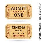 admit one ticket and cinema... | Shutterstock .eps vector #1031127910