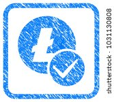 valid litecoin rubber seal... | Shutterstock .eps vector #1031130808