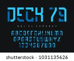 deck 79 vector futuristic... | Shutterstock .eps vector #1031135626