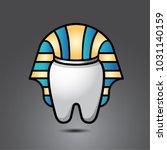 vector funny wisdom tooth... | Shutterstock .eps vector #1031140159